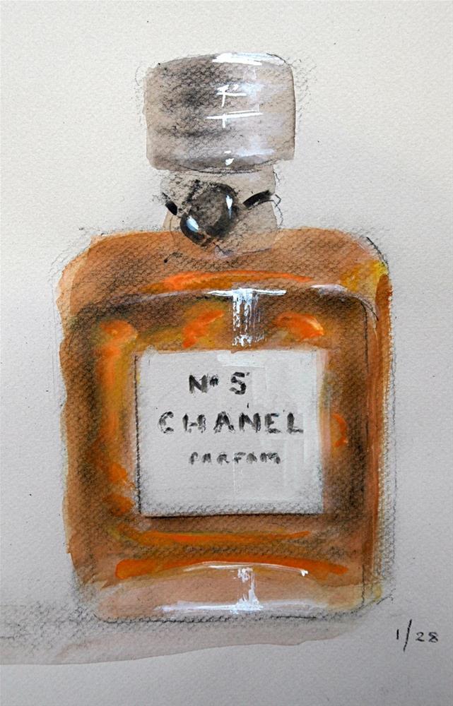 """Chanel"" original fine art by Johanna Spinks"