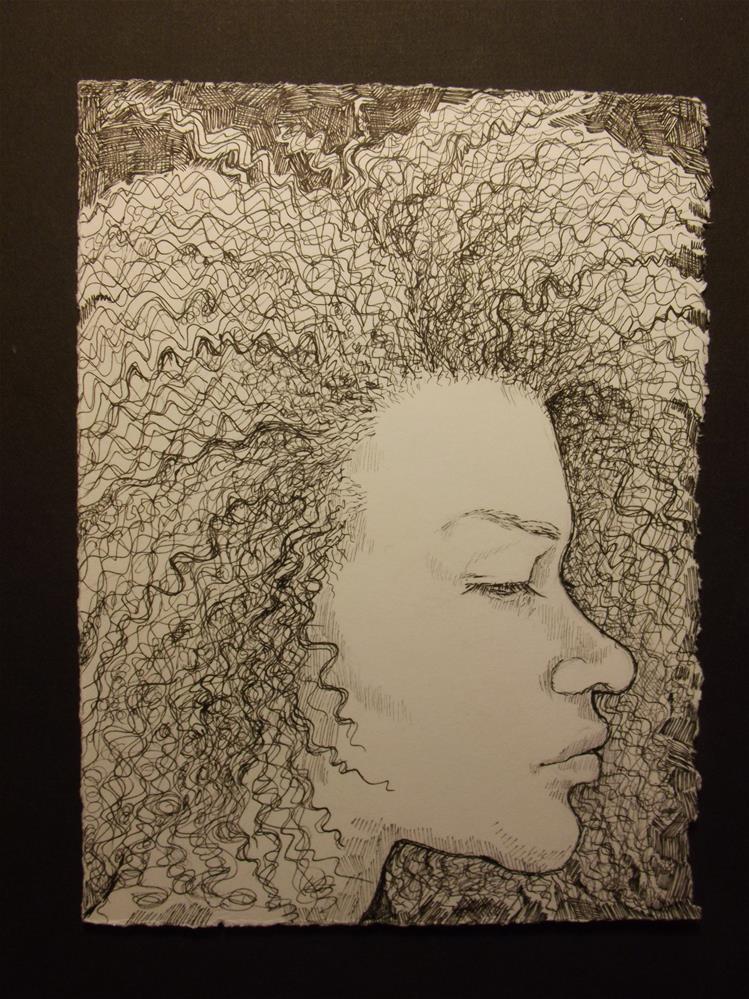 """Hair, No.3"" original fine art by wanda sigafus"