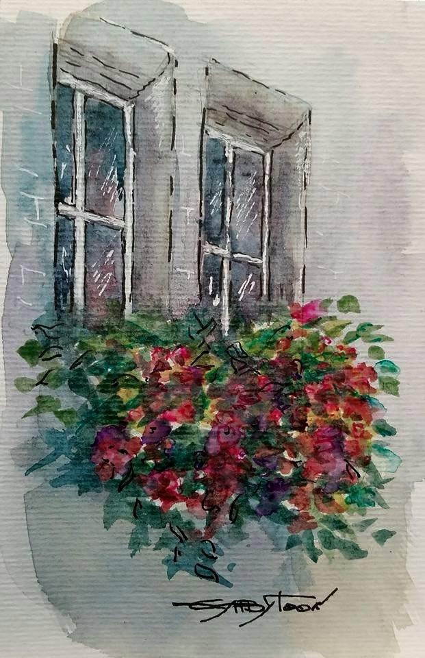 """Windows"" original fine art by Gabriella DeLamater"