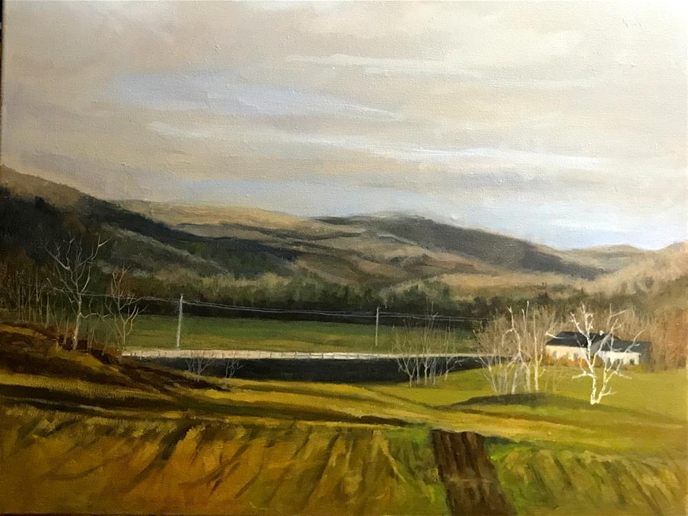 """""""Vermont mountains"""" original fine art by Betty Argiros"""