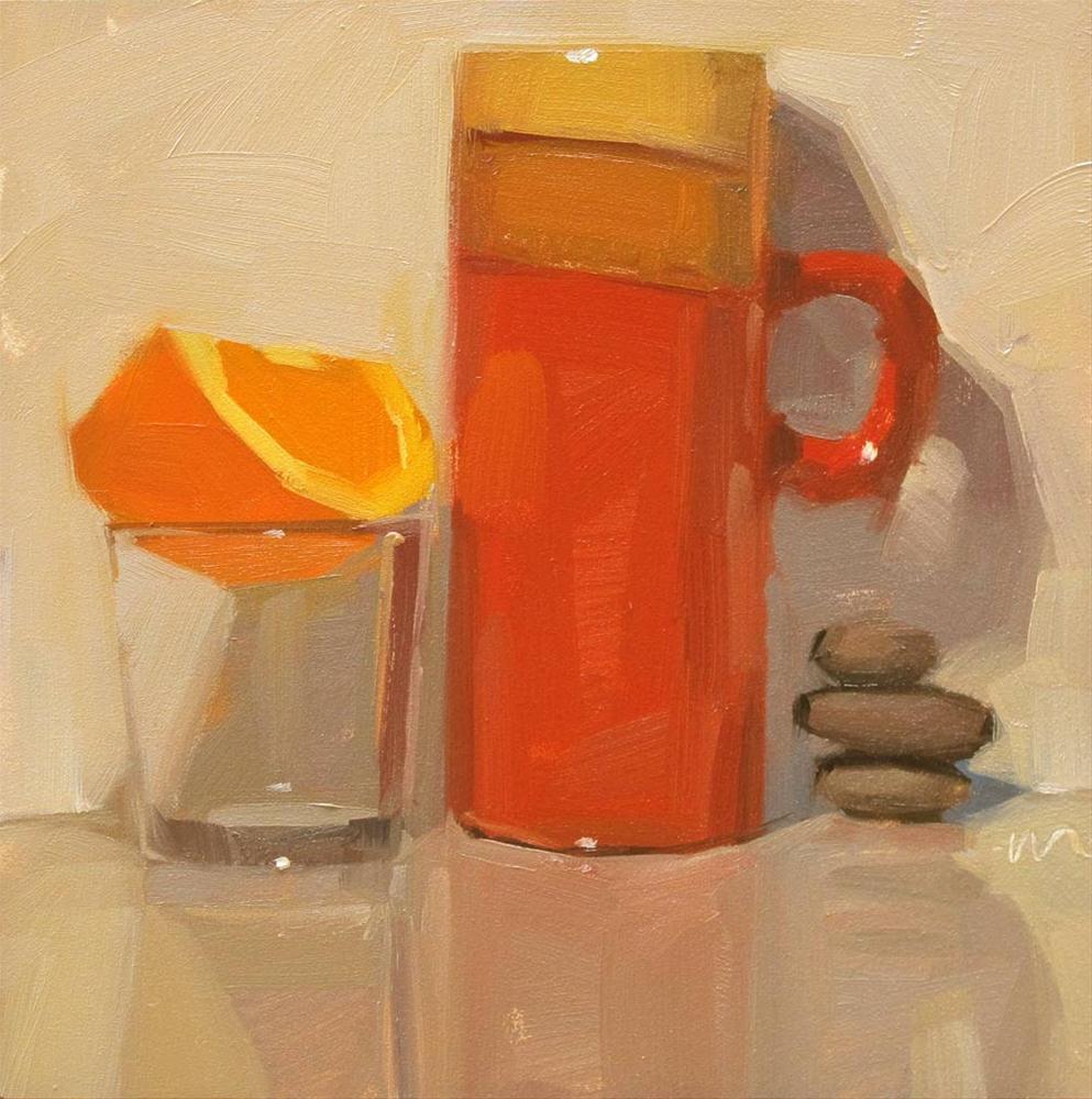 """""""A Balanced Breakfast"""" original fine art by Carol Marine"""