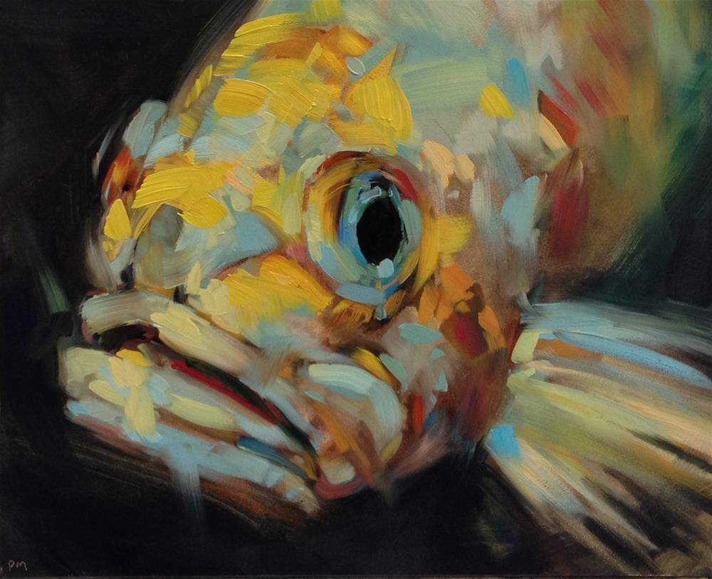 """F is for Fish"" original fine art by Patti McNutt"