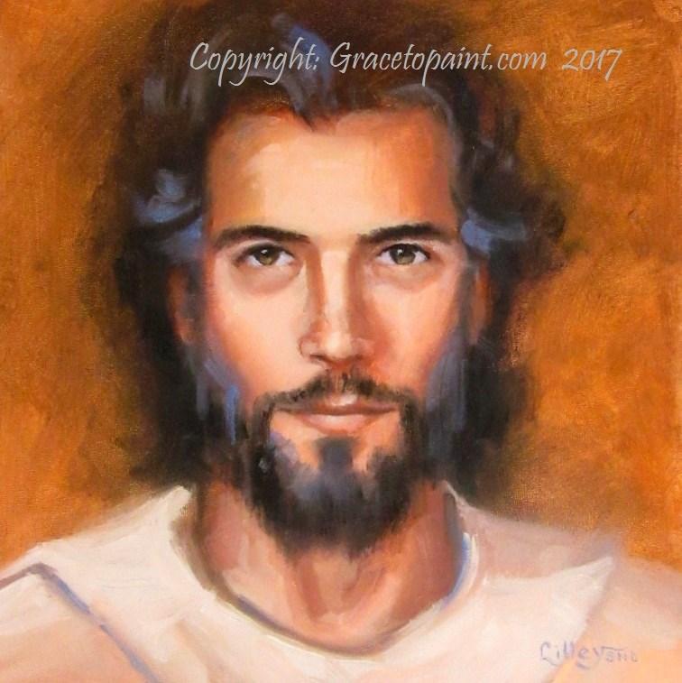 """""""Jesus"""" original fine art by Maresa Lilley"""