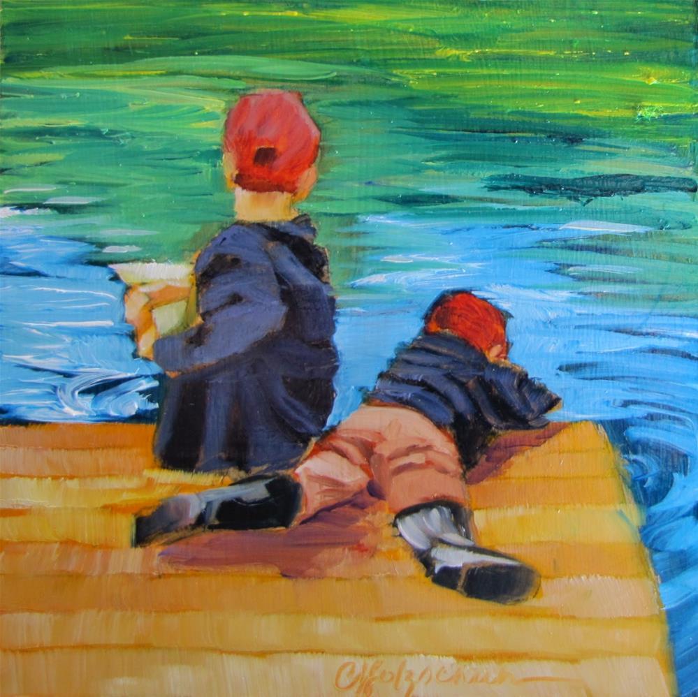 """Catching"" original fine art by Christine Holzschuh"