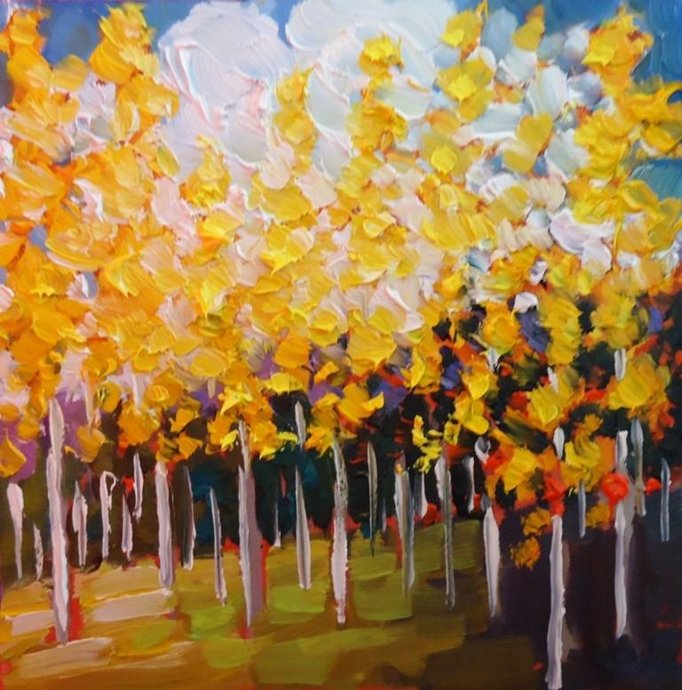 """""""123 SUMMER ASPENS"""" original fine art by Dee Sanchez"""
