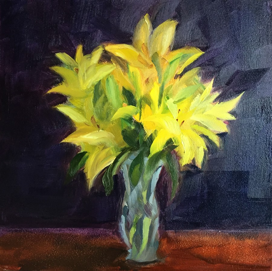 """#101 - Lilies"" original fine art by Sara Gray"