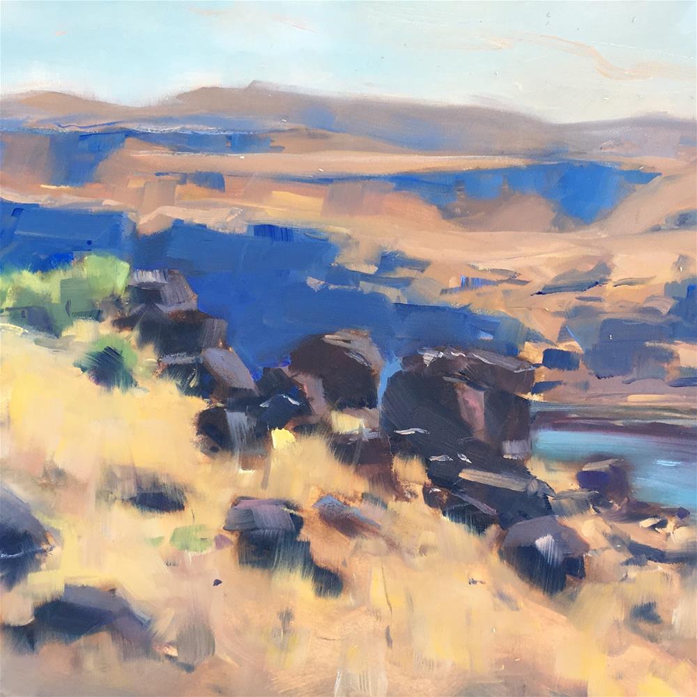 """This Hard Land (Maryhill Museum Path)"" original fine art by Patty Voje"