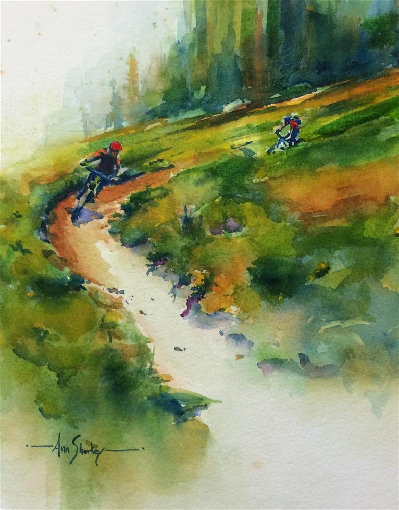 """Lupine Trail Curve"" original fine art by Ann Sharkey"