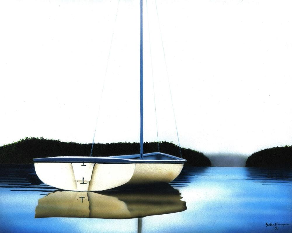 """Dawn Reflections"" original fine art by Fred Schollmeyer"