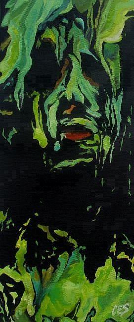 """Drowning in Paint - A Self Portrait"" original fine art by ~ces~ Christine E. S. Code"