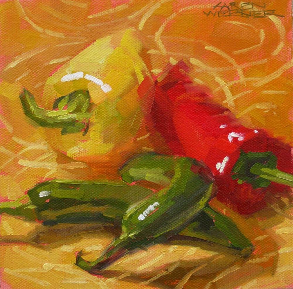 """Pepper Dance"" original fine art by Karen Werner"