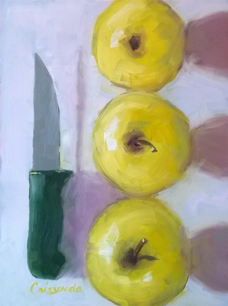 """""""#9 Oil   An Apple A Day"""" original fine art by Crisynda Buss"""