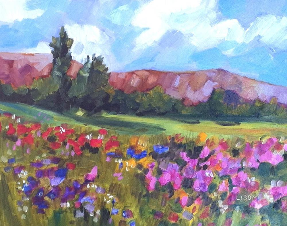 """""""Meadow to Mountains"""" original fine art by Libby Anderson"""