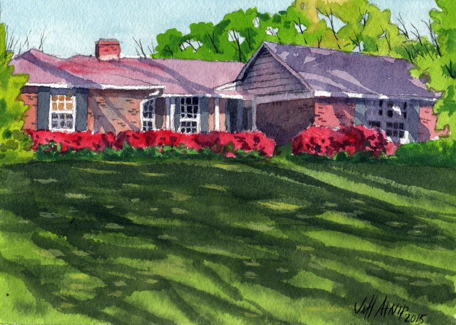 """Shadow Lawn"" original fine art by Jeff Atnip"