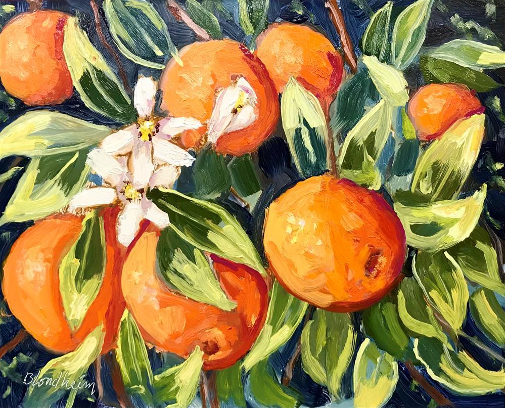 """Orange Tree in Fruit"" original fine art by Linda Blondheim"