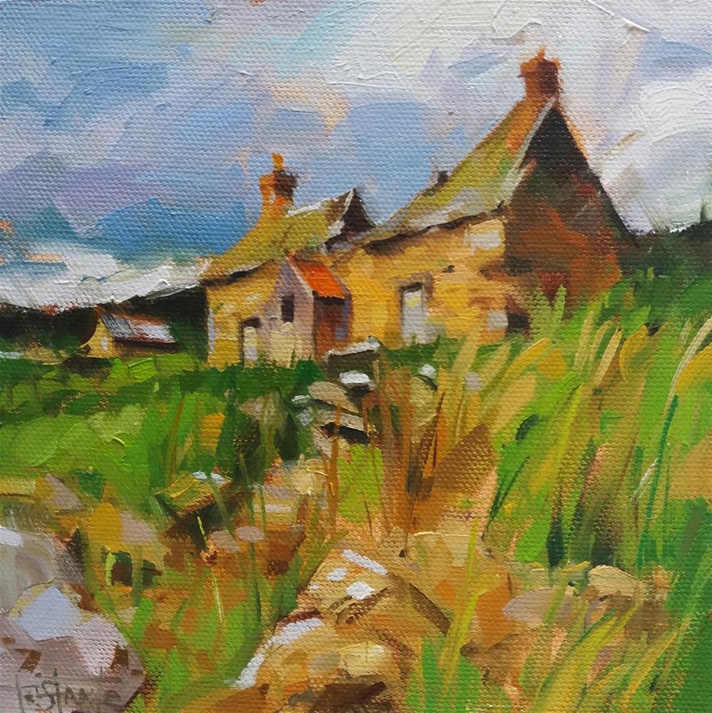 """""""Old Cottage"""" original fine art by Víctor Tristante"""
