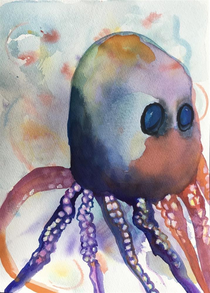 """Mr. Octopus"" original fine art by Kimberly Balentine"