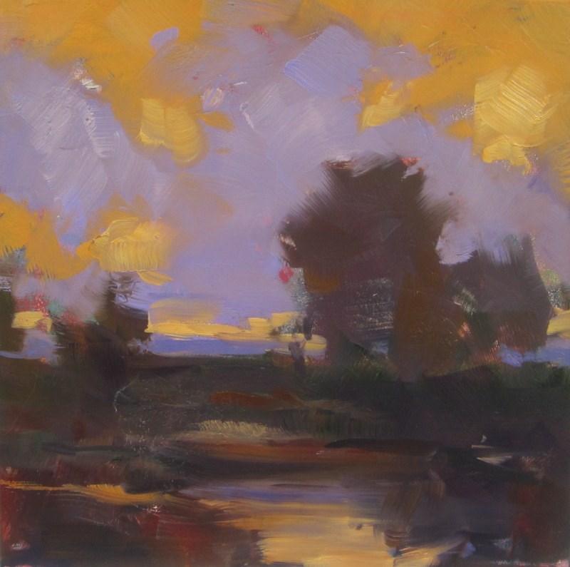 """Colorful skies at sunset"" original fine art by Sandy Haynes"