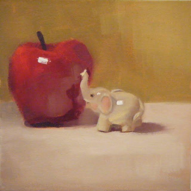 """""""JUMBO SIZE"""" original fine art by Helen Cooper"""