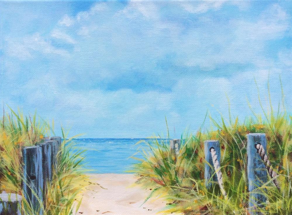 """Beach Path"" original fine art by wendy black"