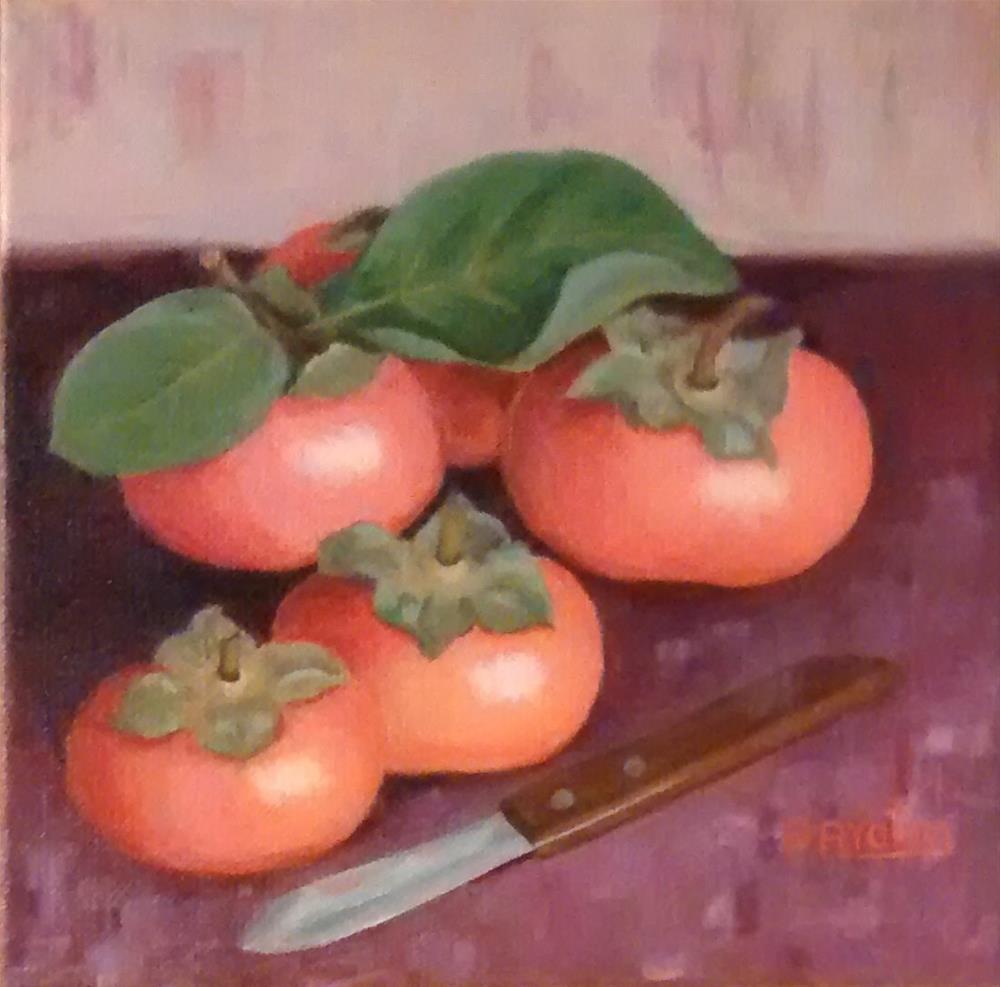 """Persimmons"" original fine art by Pratima Patel"