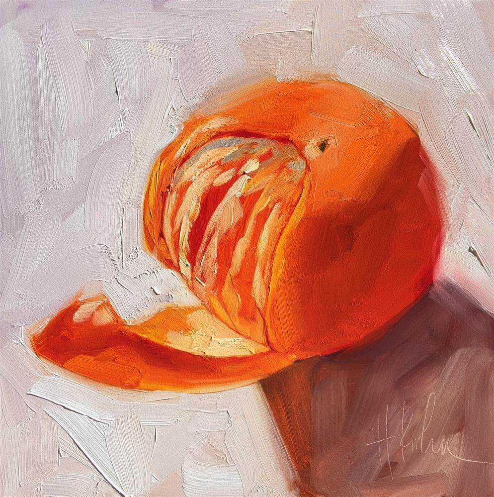 """Mandarin Glow"" original fine art by Hallie Kohn"