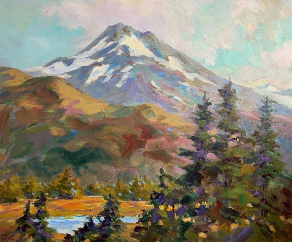 """Rugged Mountain"" original fine art by Melissa Gannon"