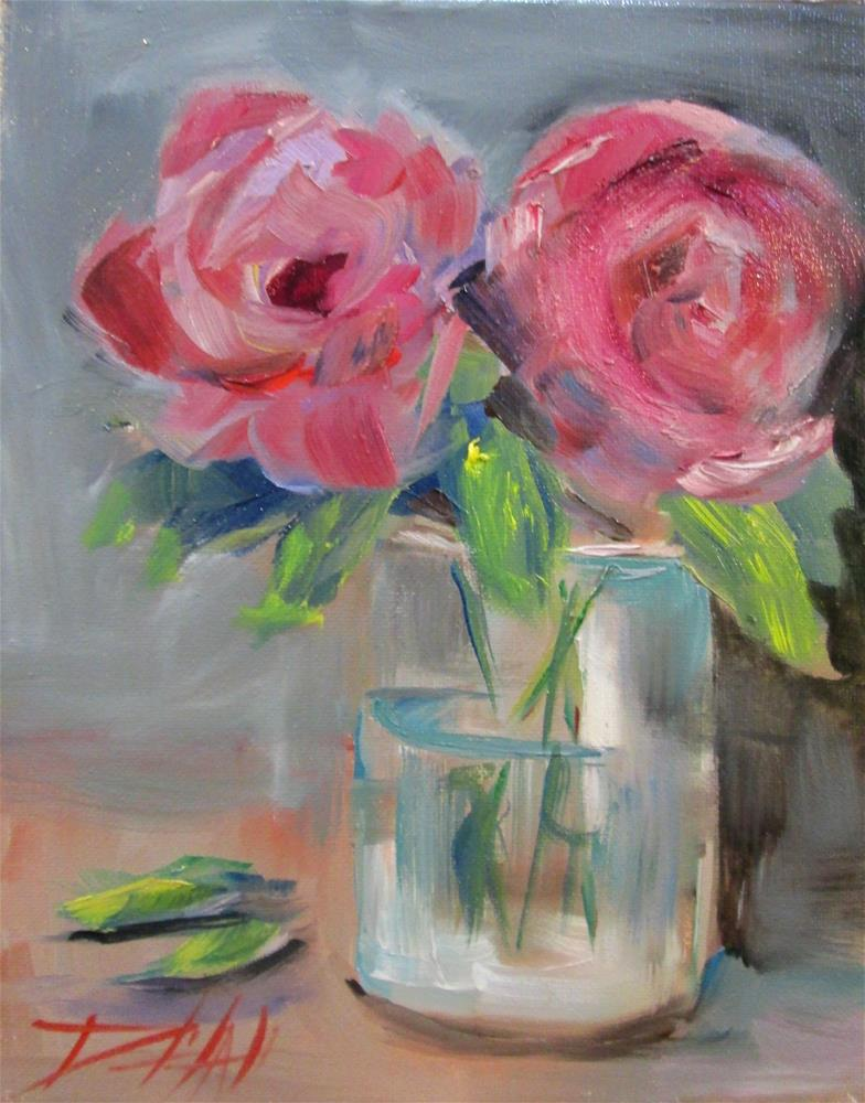 """Two Roses"" original fine art by Delilah Smith"