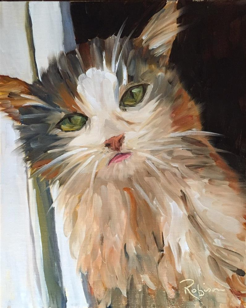 """Pretty Kitty"" original fine art by Renee Robison"