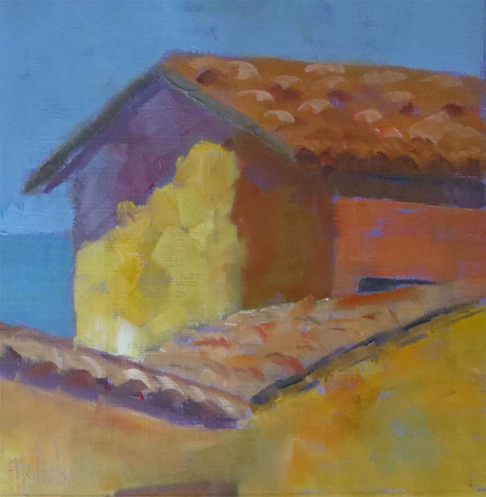 """""""Mexican Roof"""" original fine art by Pam Holnback"""