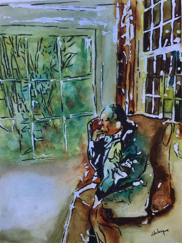 """Relaxing before the Cold Winter"" original fine art by Juan Velasquez"