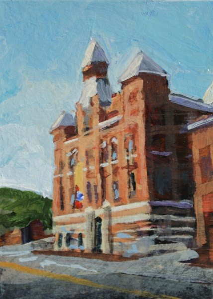 """Rockwell Museum"" original fine art by Chris Breier"
