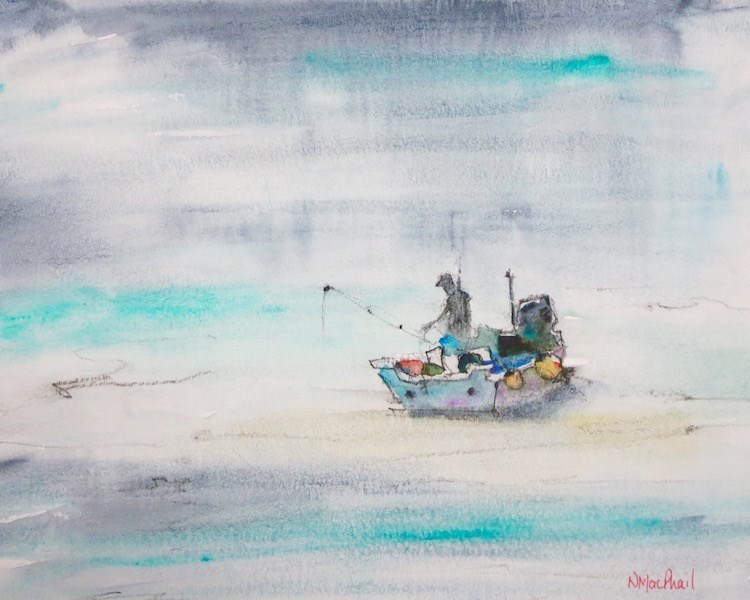 """alone time"" original fine art by Nora MacPhail"