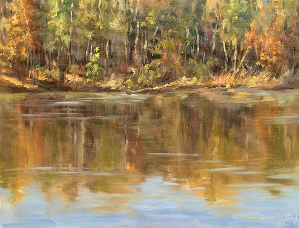 """lake view"" original fine art by Dottie  T  Leatherwood"