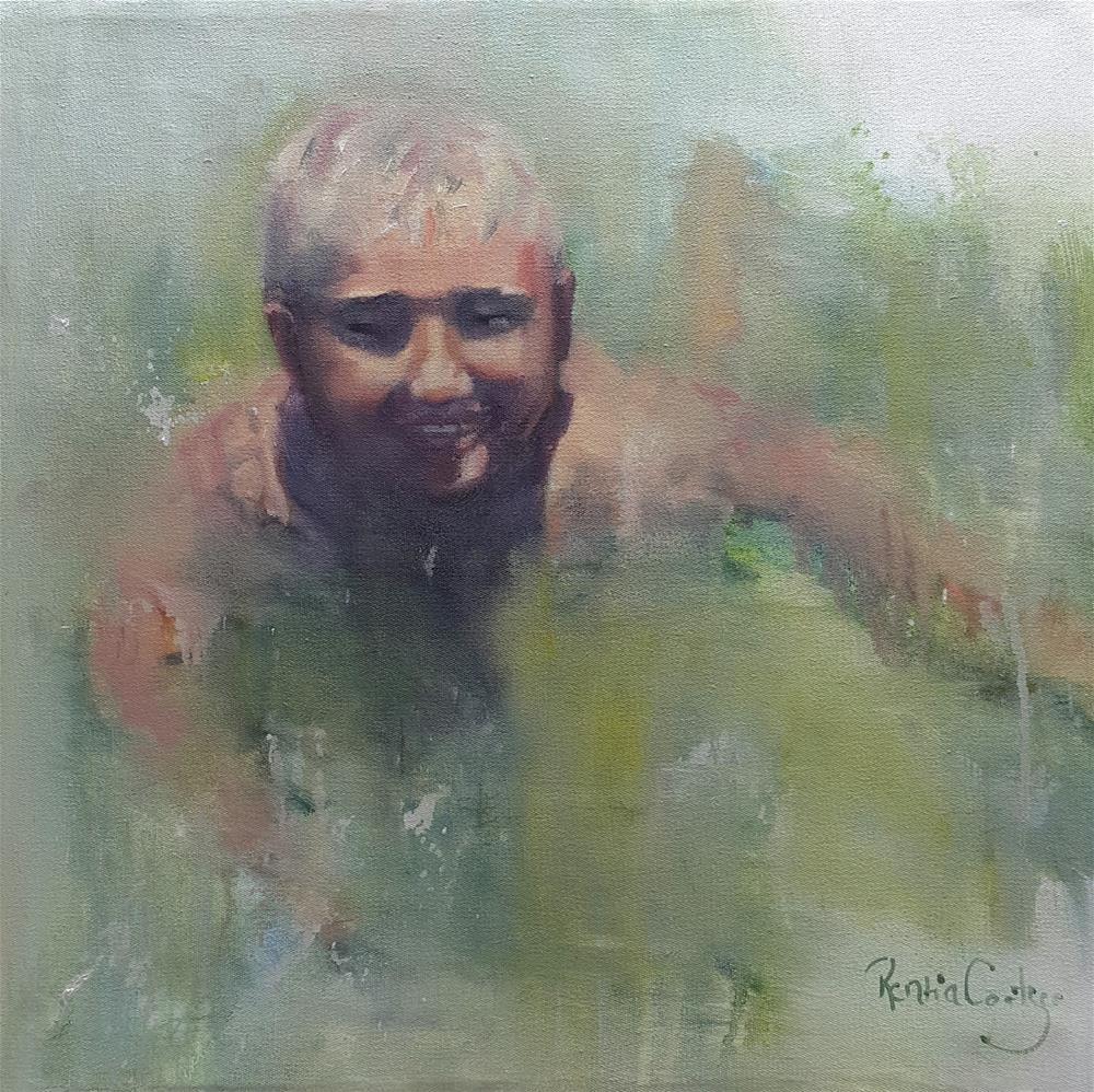 """Fun at Loch Athlone"" original fine art by Rentia Coetzee"