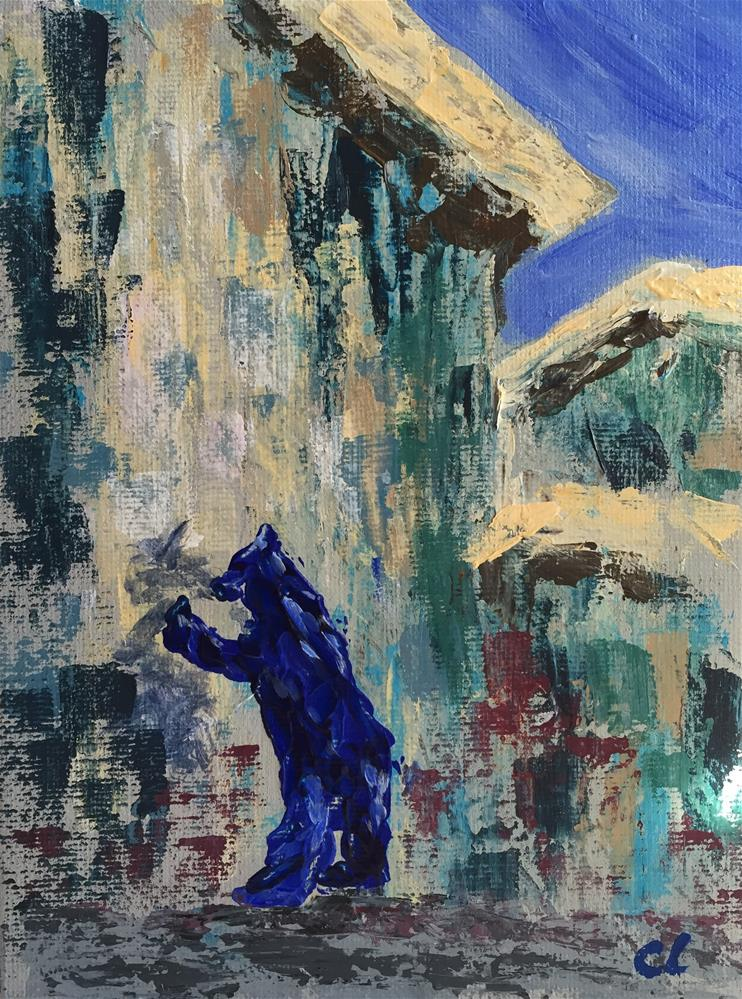 """""""Peter, Paul, Mary and the Blue Bear"""" original fine art by Cheree Apalona Lueck"""