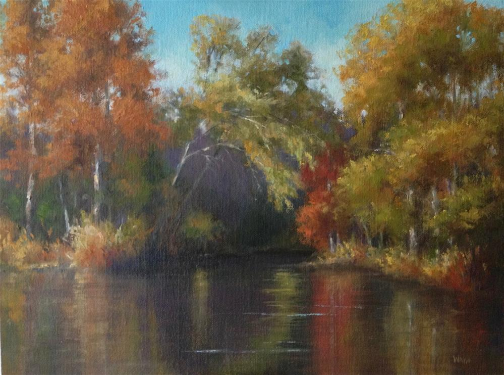 """River's Cove"" original fine art by Nancy Wahl"