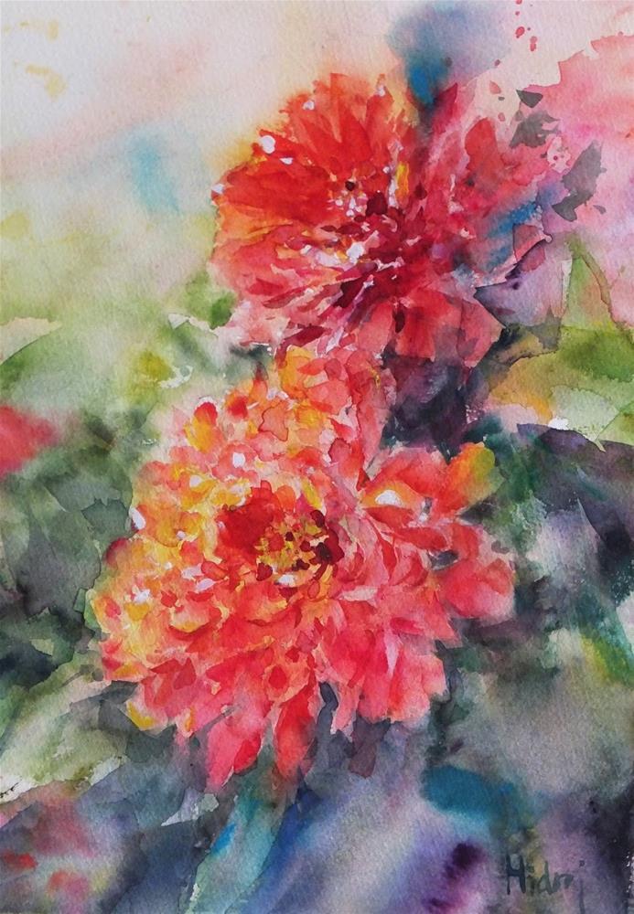 """From Al Ain Palace garden"" original fine art by Midori Yoshino"