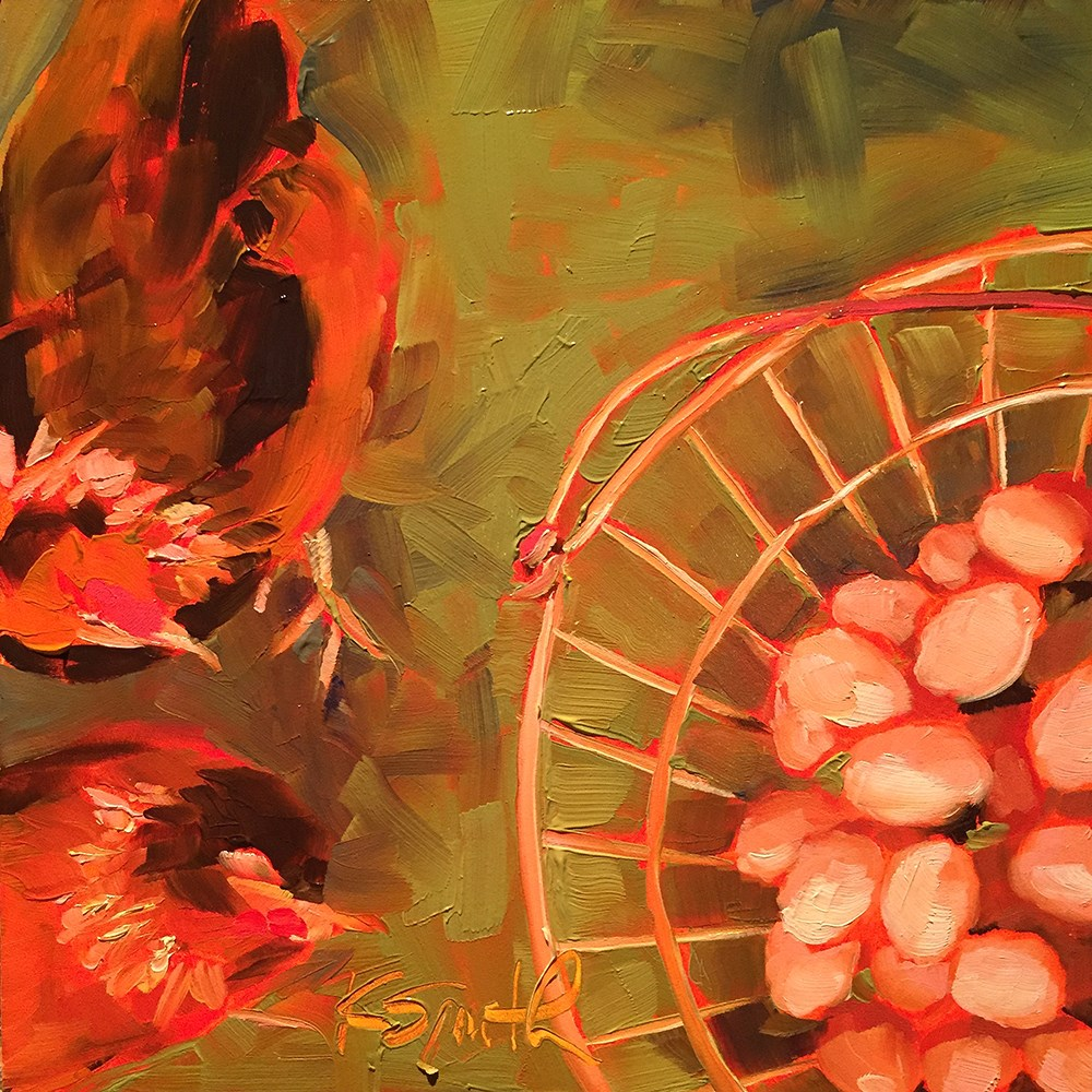 """""""go ahead, put all your eggs in one basket!"""" original fine art by Kim Smith"""