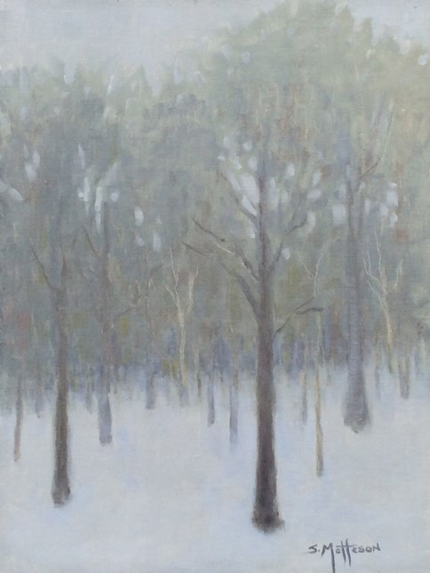 """Winter Woods"" original fine art by Susan Matteson"