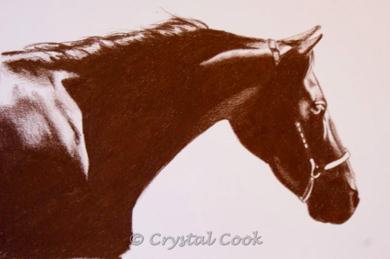 """She Walks In Sunlight"" original fine art by Crystal Cook"