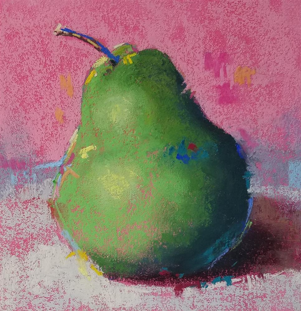 """""""May Your Days Be Pear-y and Bright with glass"""" original fine art by Cindy Haase"""