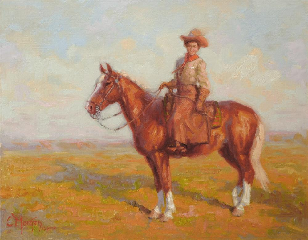 """Cowgirl Memories #12"" original fine art by Cecile W. Morgan"
