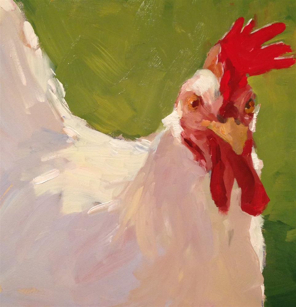 """""""Summer Chicken"""" original fine art by Patty Voje"""