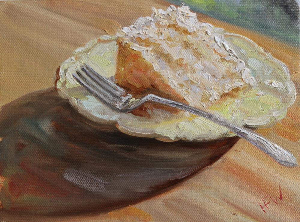 """Slice of Coconut Cake"" original fine art by H.F. Wallen"