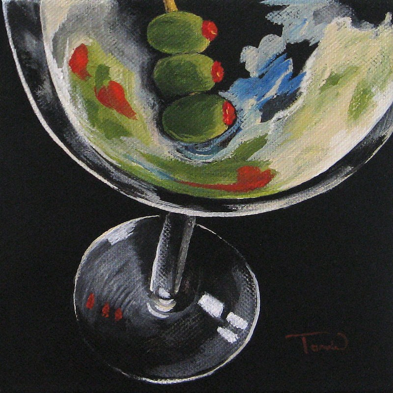 """Christian's Martini"" original fine art by Torrie Smiley"