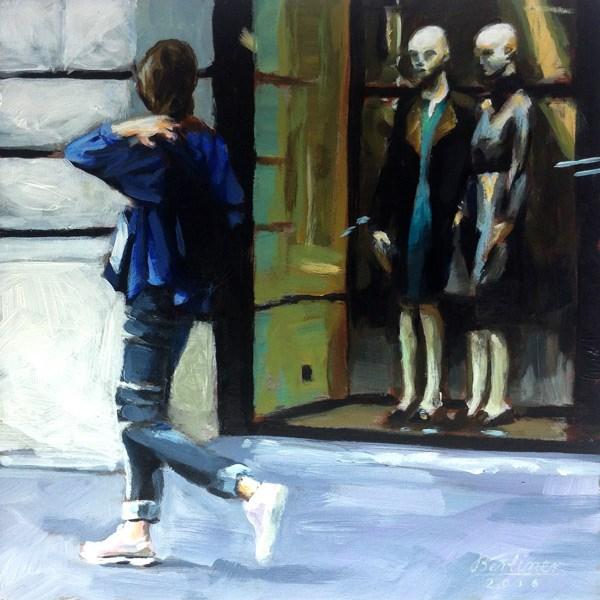 """077 Big sisters are watching you"" original fine art by Anja Berliner"