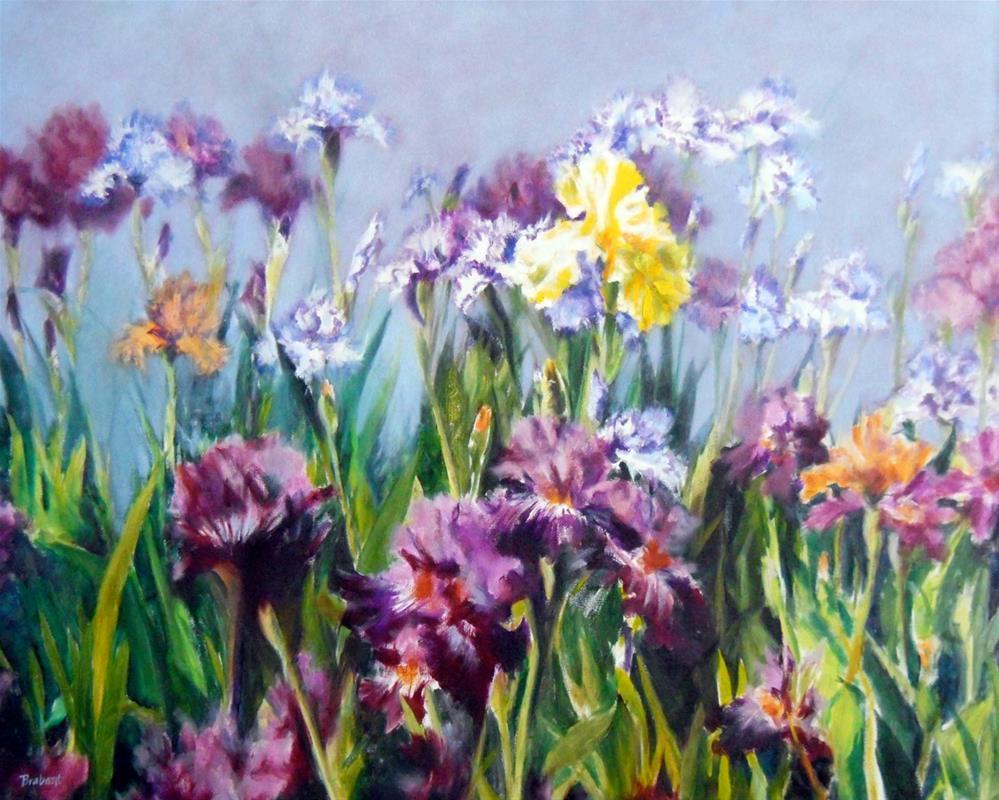 """Mary Ellen's Irises"" original fine art by Jill Brabant"