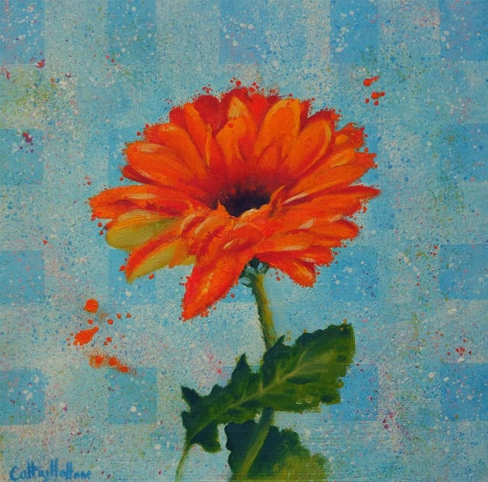 """""""Gerber Daisy"""" original fine art by Cathy Holtom"""