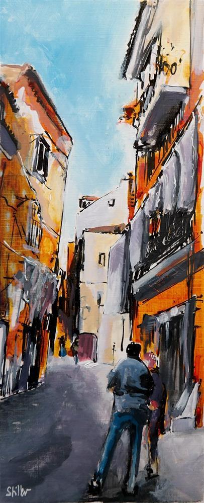 """""""2411 Lissabon Seitenstraße"""" original fine art by Dietmar Stiller"""